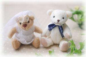 結婚ぬいぐるみ熊
